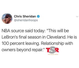 Chris Sheridan LeBron James